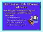 isso strategic goals objectives and actions