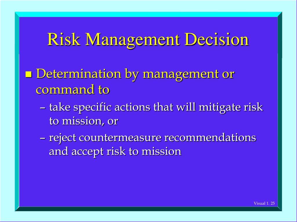 Risk Management Decision