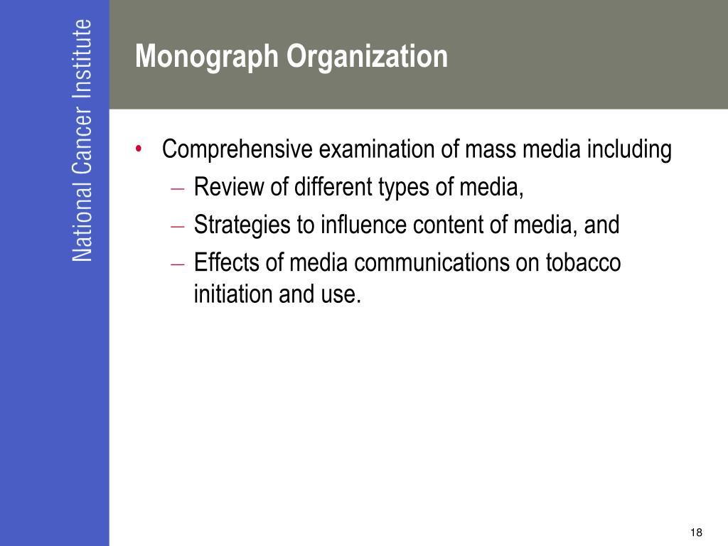 Monograph Organization
