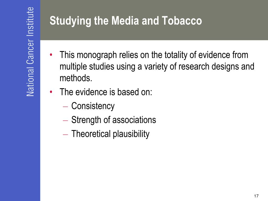 Studying the Media and Tobacco