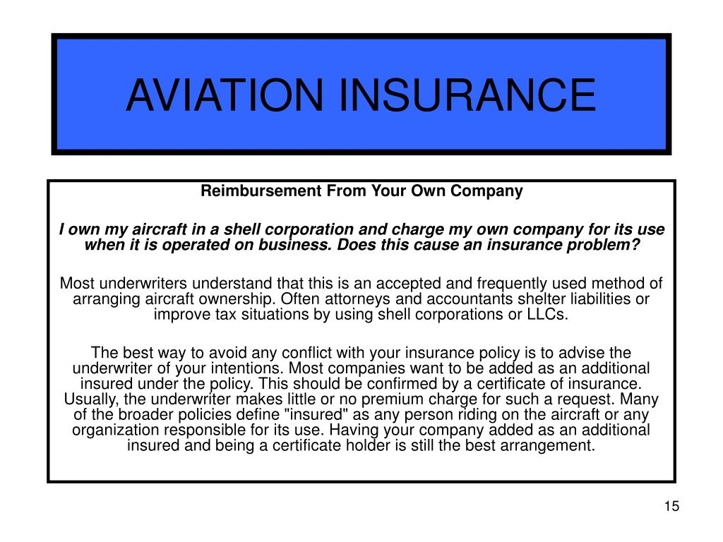 Private Aircraft Insurance Quote