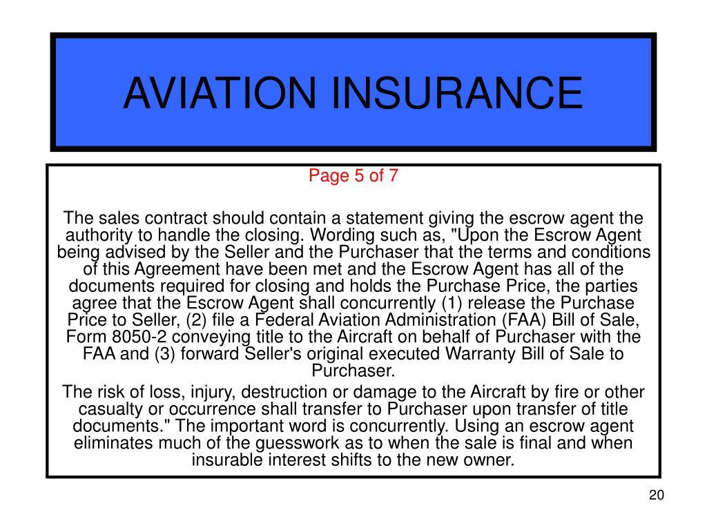 Airplane Insurance