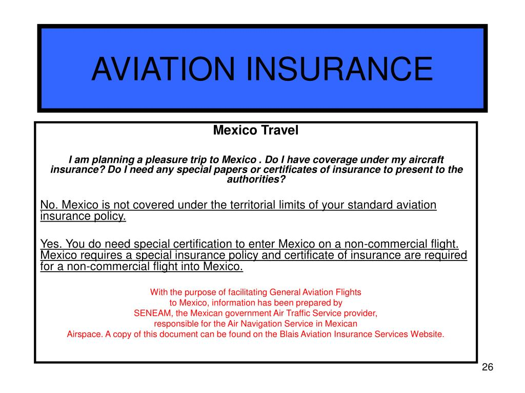 AVIATION INSURANCE