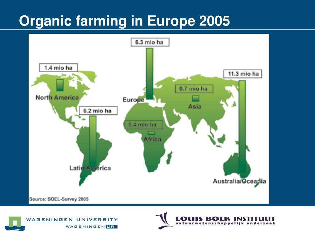 Organic farming in Europe 2005