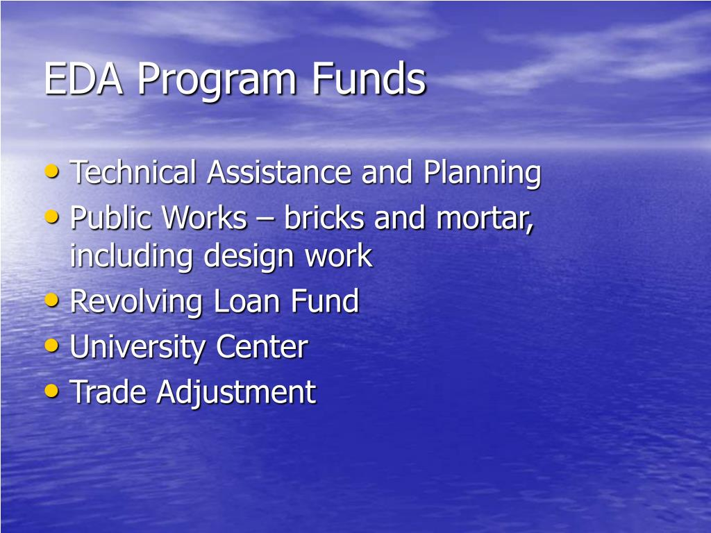 EDA Program Funds