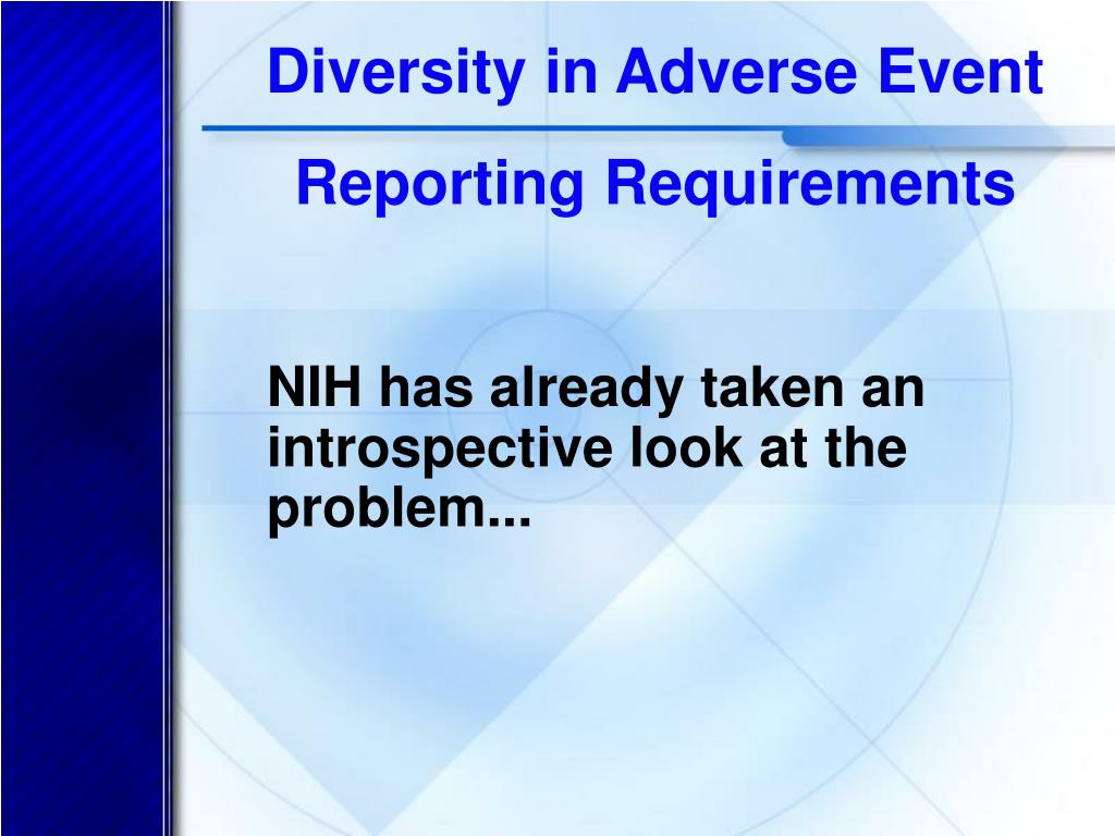 Diversity in Adverse Event