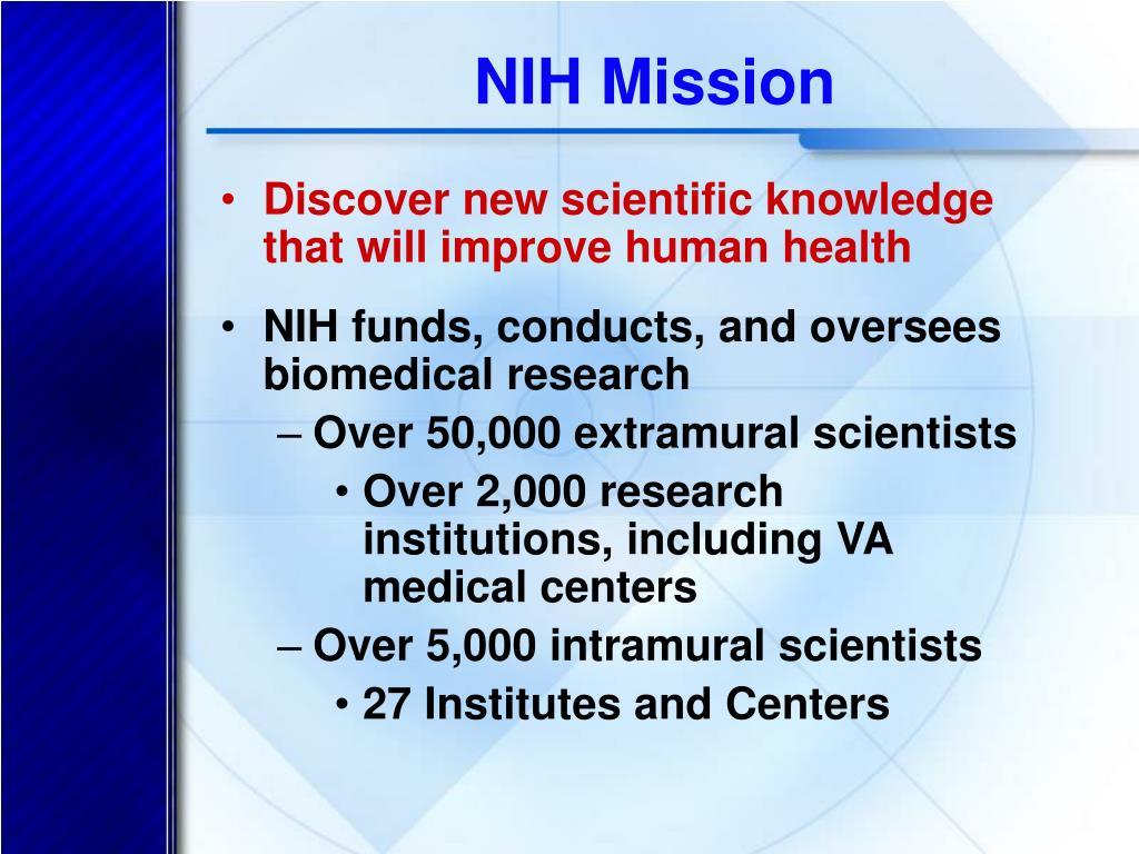 NIH Mission