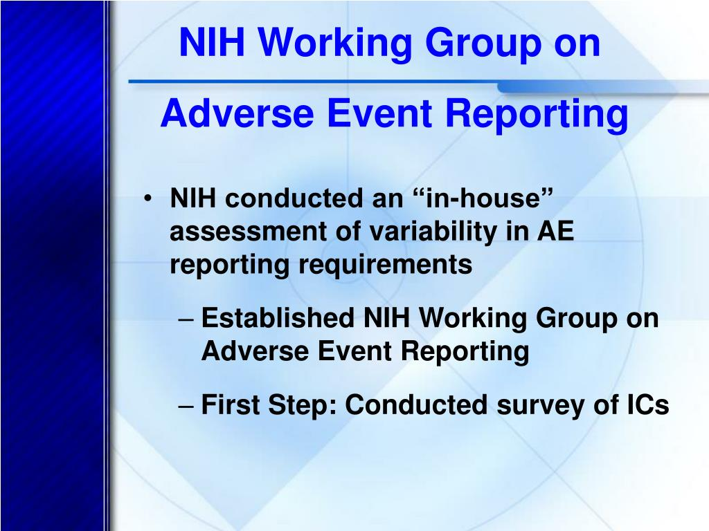 NIH Working Group on