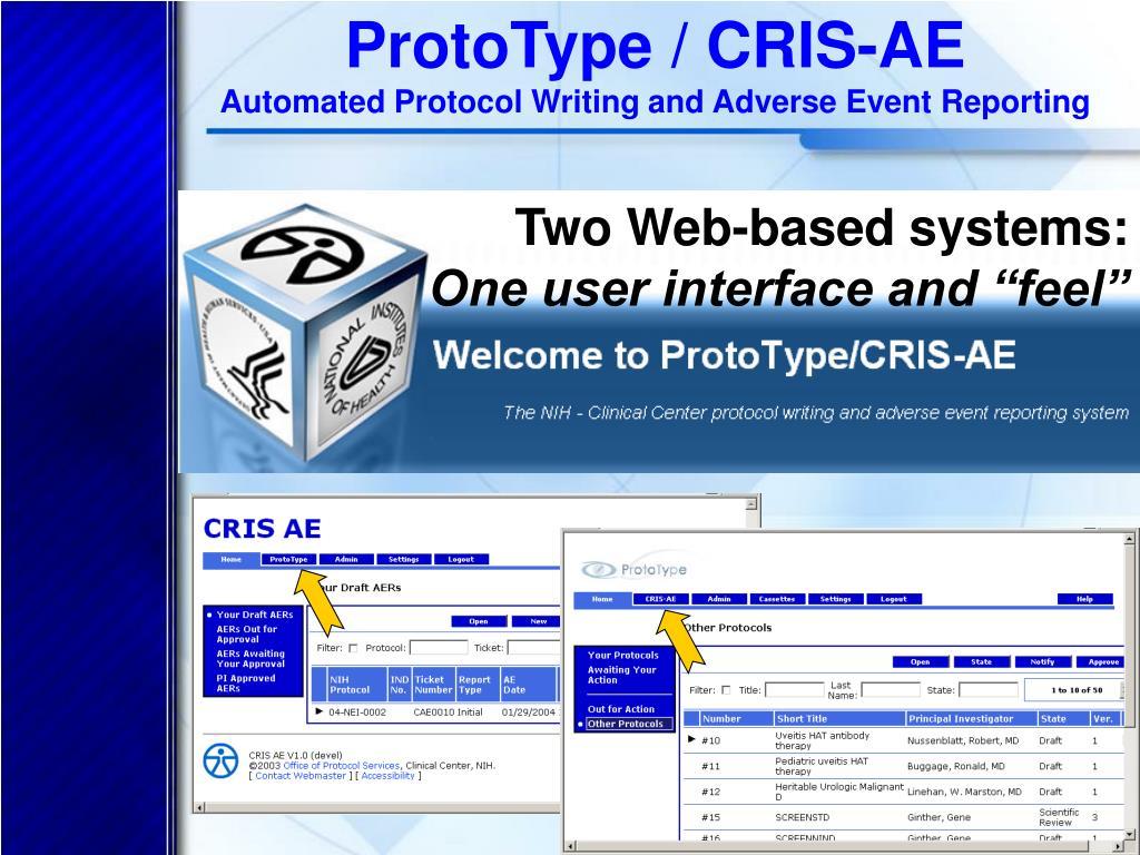 ProtoType / CRIS-AE