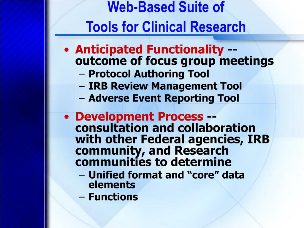 Web-Based Suite of
