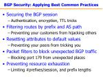bgp security applying best common practices