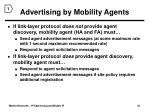 advertising by mobility agents