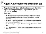 agent advertisement extension 2
