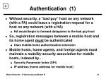 authentication 1