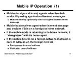 mobile ip operation 1
