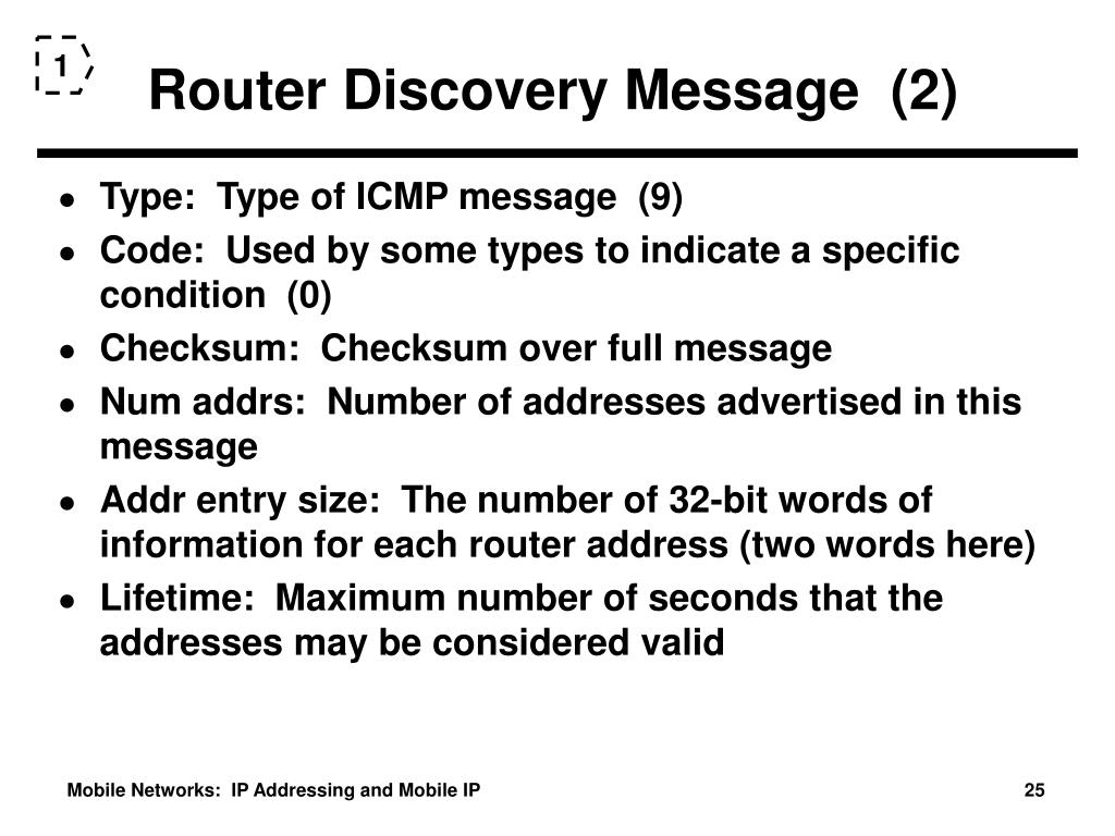 Router Discovery Message  (2)