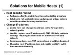 solutions for mobile hosts 1