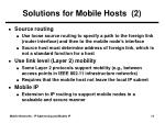 solutions for mobile hosts 2