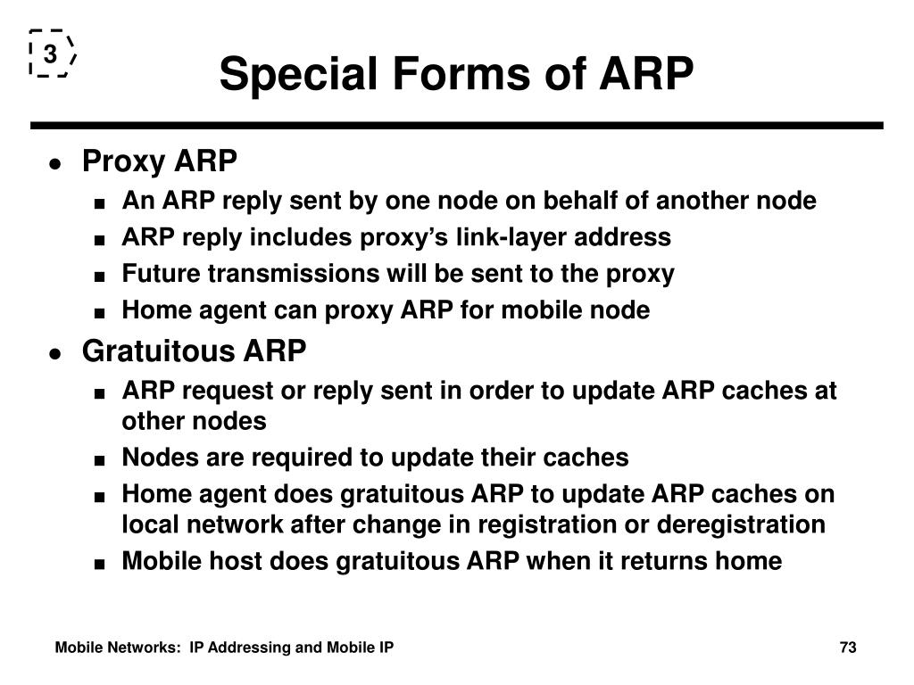Special Forms of ARP