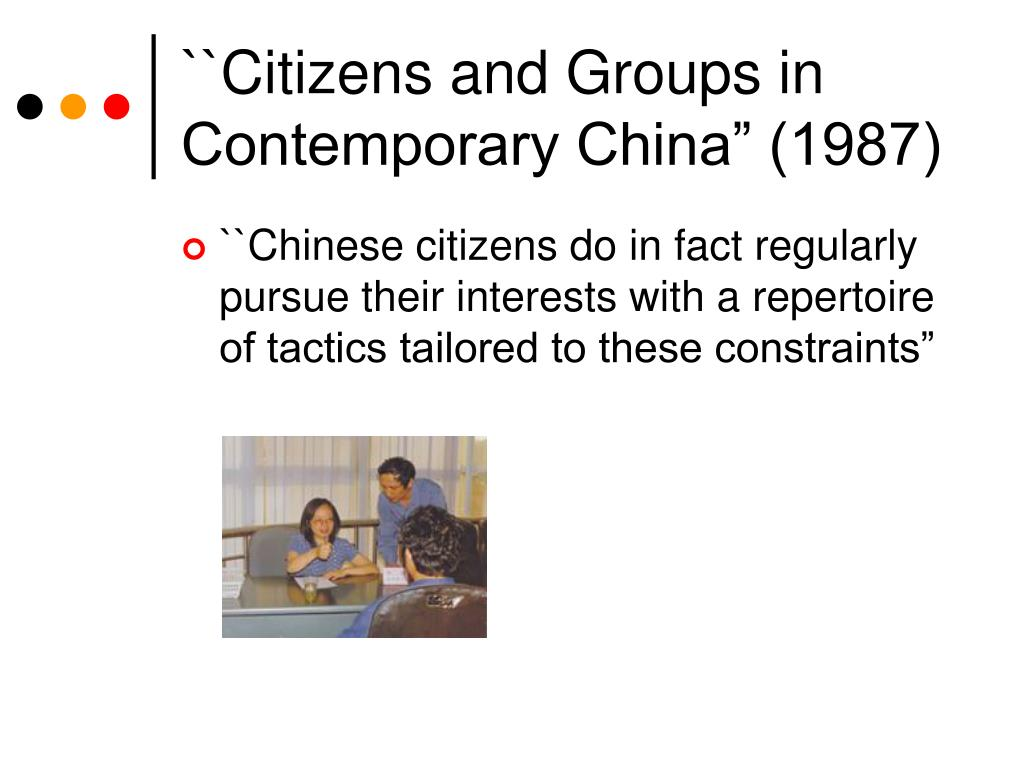 """``Citizens and Groups in Contemporary China"""" (1987)"""