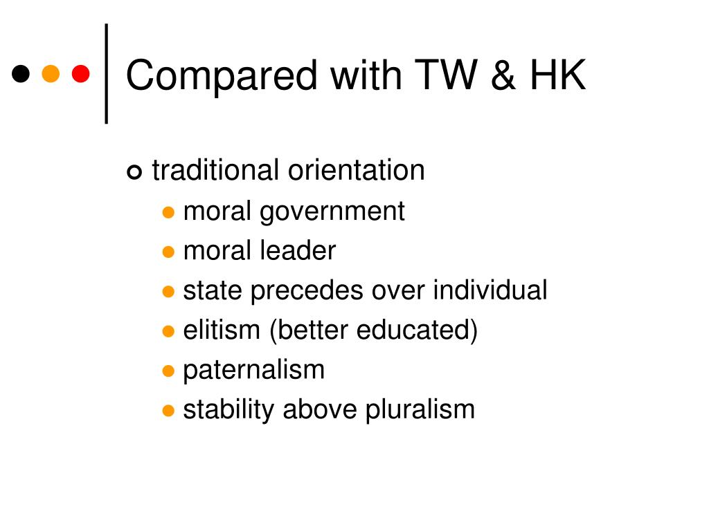 Compared with TW & HK