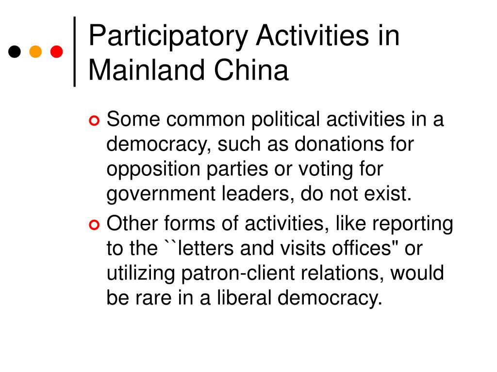 Participatory Activities in Mainland China