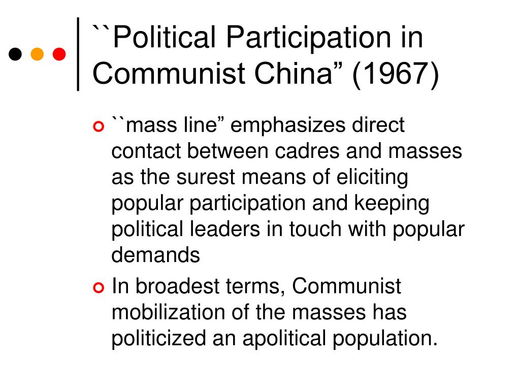 """``Political Participation in Communist China"""" (1967)"""