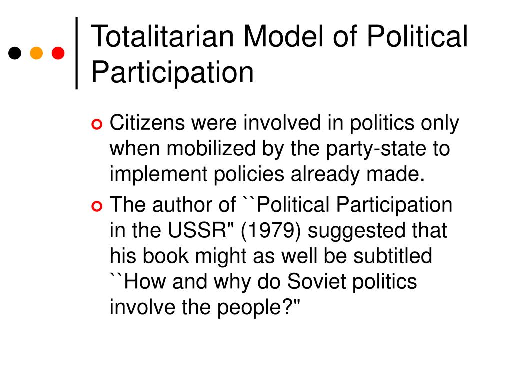 Totalitarian Model of Political Participation