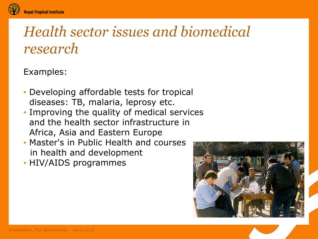 Health sector issues and biomedical research