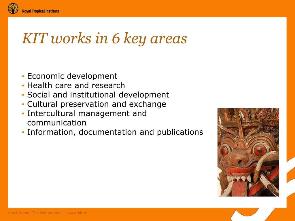 KIT works in 6 key areas