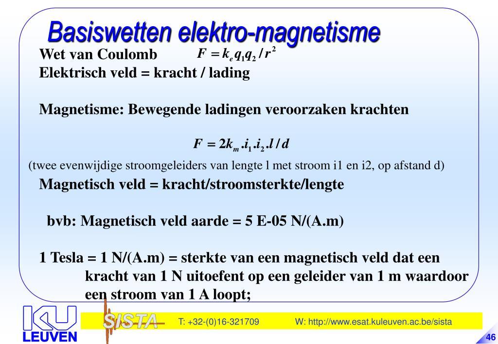 Basiswetten elektro-magnetisme