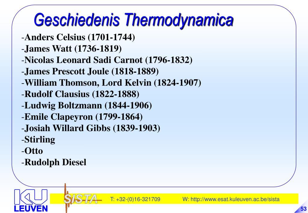 Geschiedenis Thermodynamica