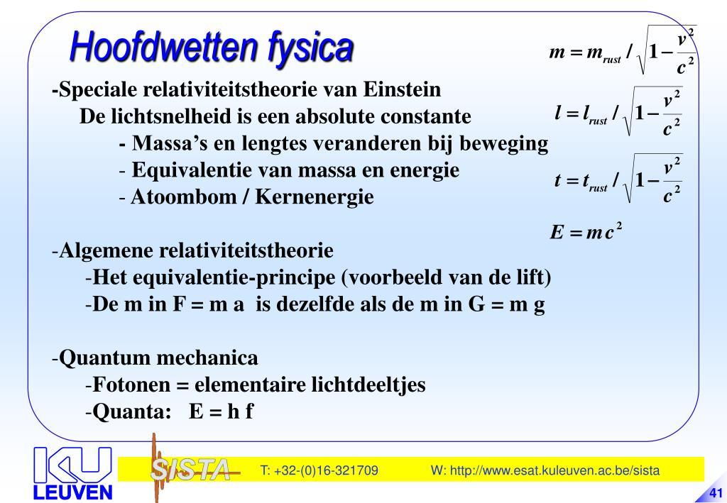 Hoofdwetten fysica