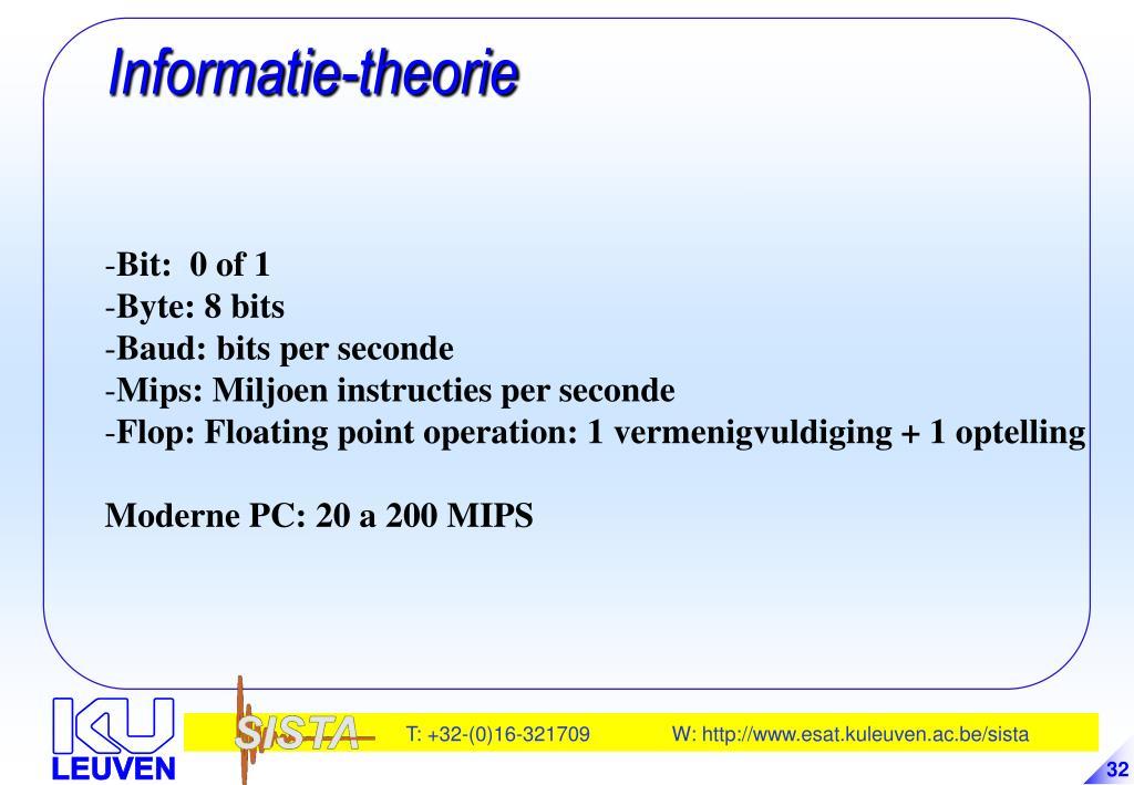 Informatie-theorie