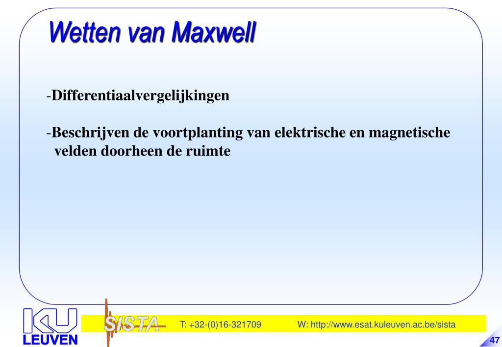 Wetten van Maxwell