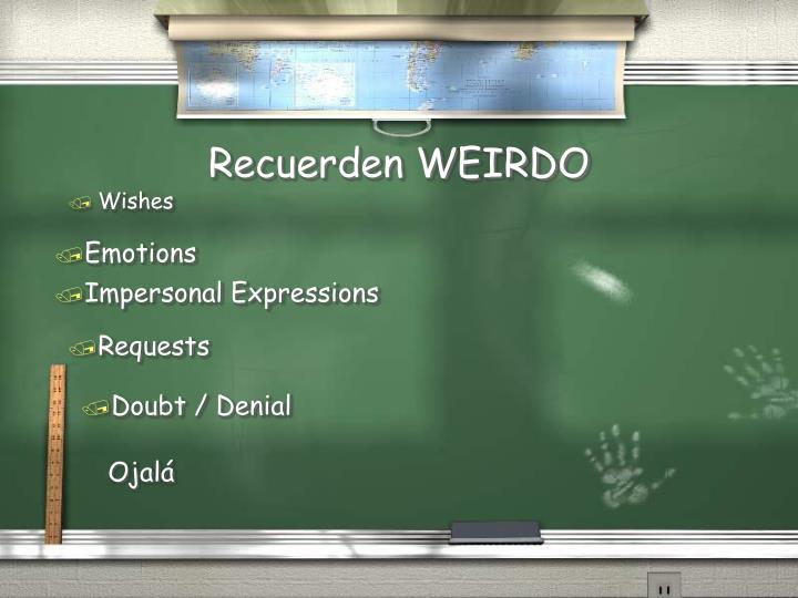 Recuerden WEIRDO