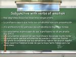 subjunctive with verbs of emotion1