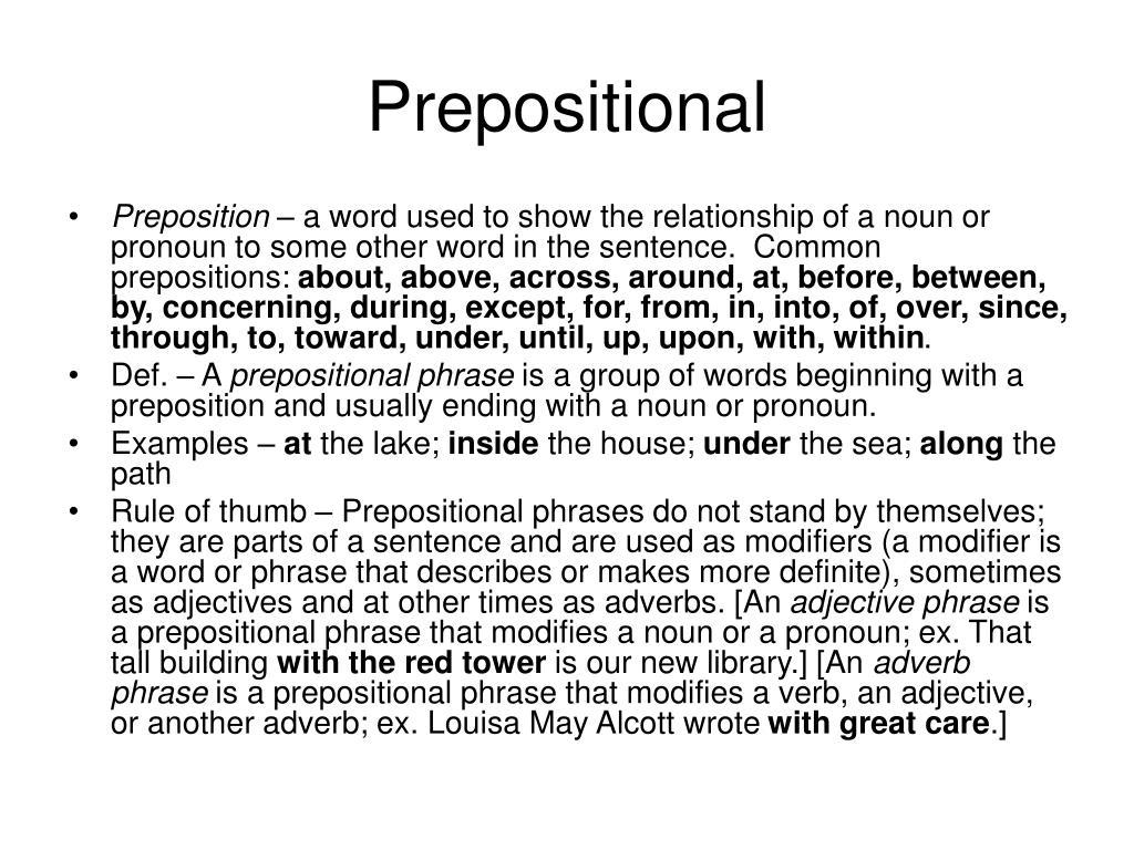 Prepositional