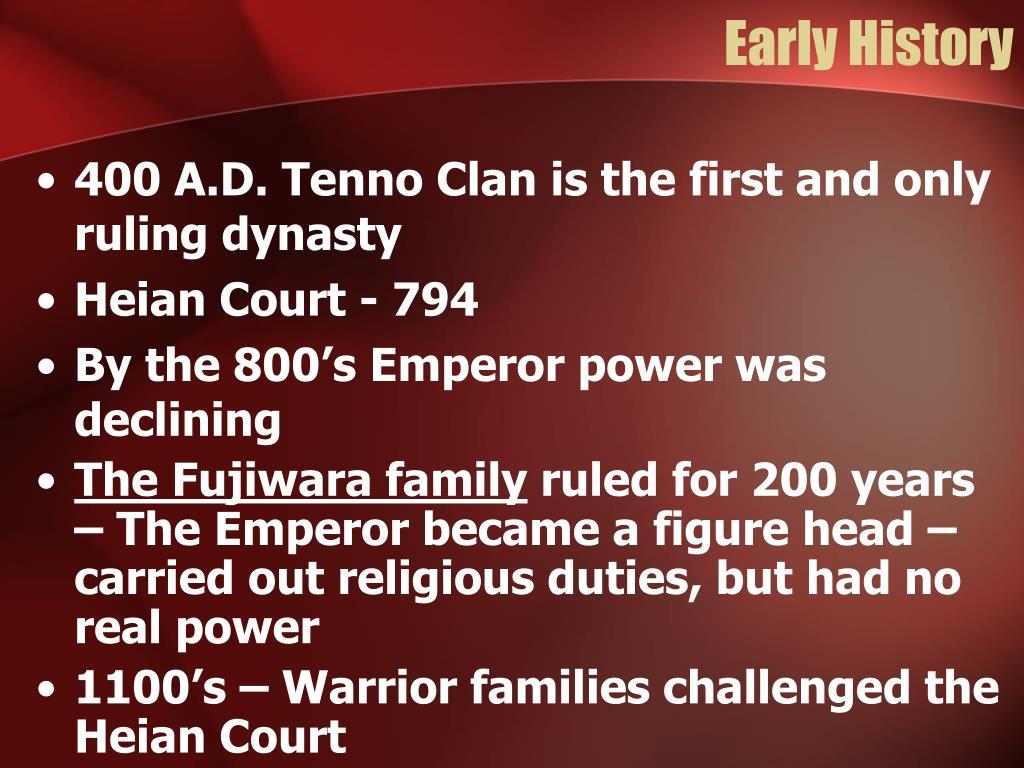 Early History