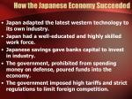 how the japanese economy succeeded