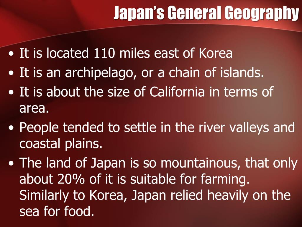 Japan's General Geography