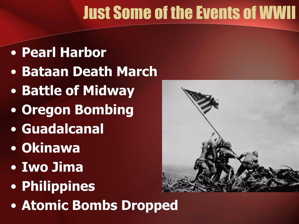 Just Some of the Events of WWII