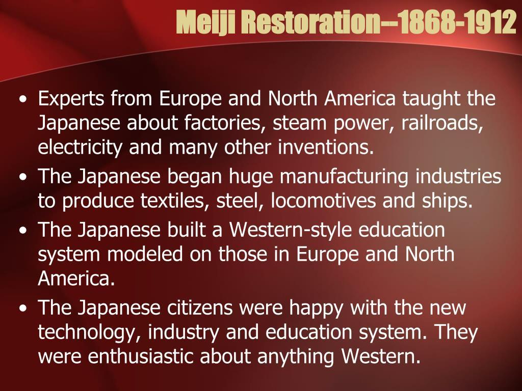 Meiji Restoration--1868-1912