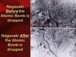 nagasaki before the atomic bomb is dropped