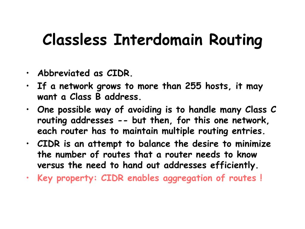 Classless Interdomain Routing