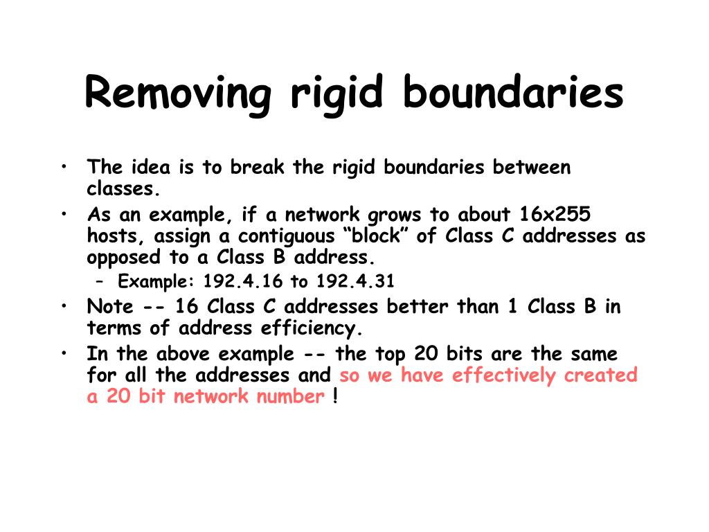 Removing rigid boundaries