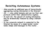 revisiting autonomous systems