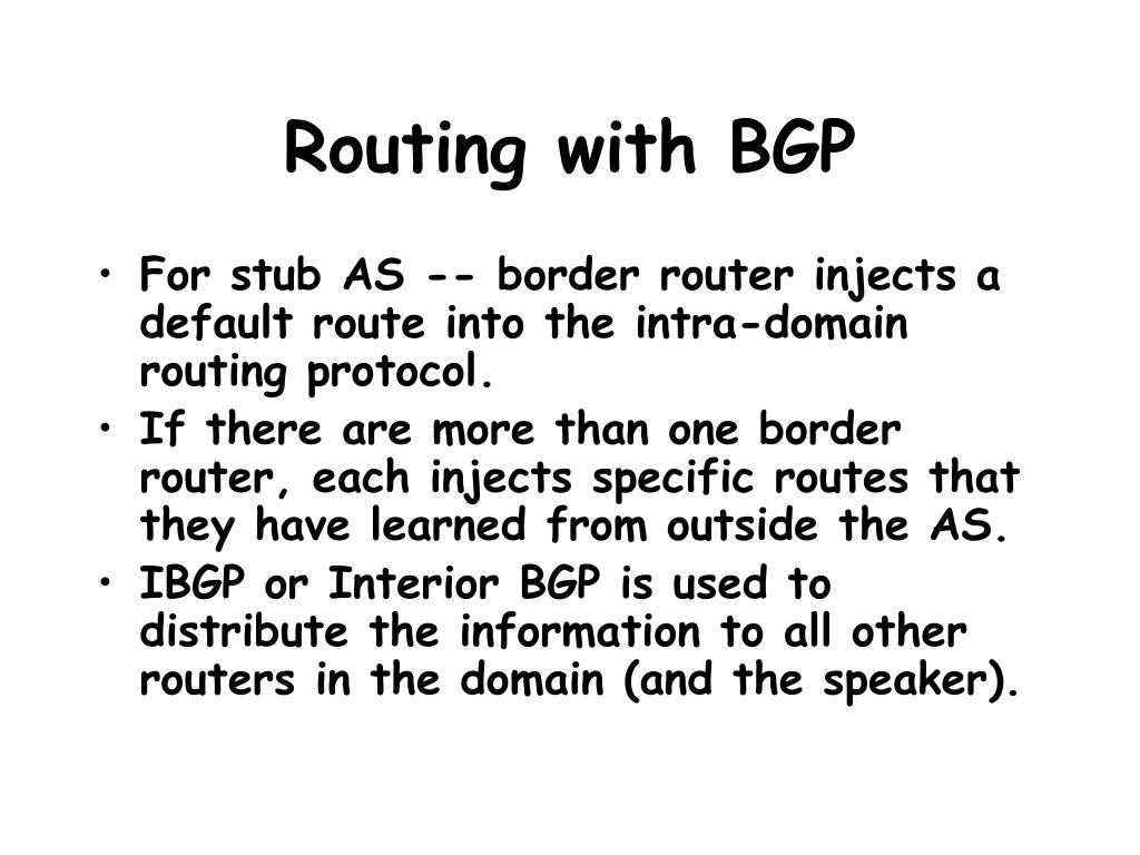 Routing with BGP