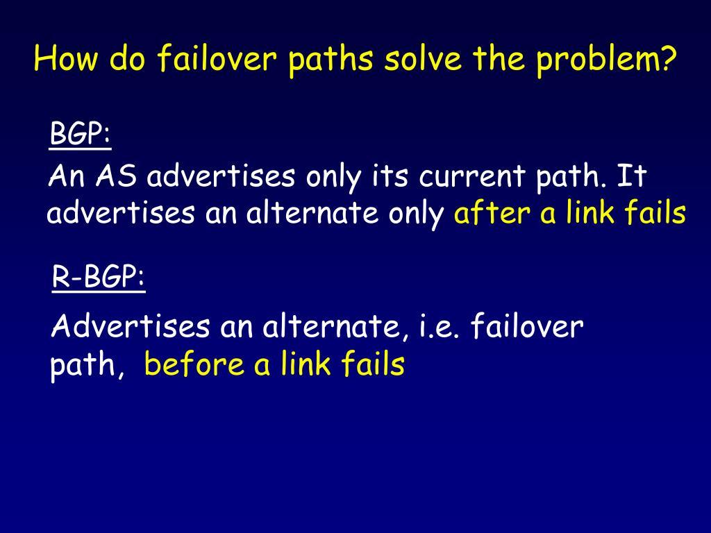 How do failover paths solve the problem?