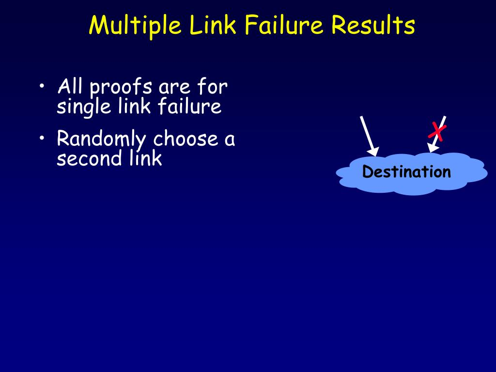 Multiple Link Failure Results